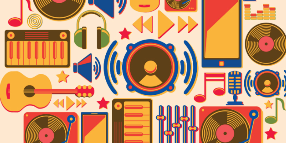 Indian Music On Smartphones - Learning Concept.